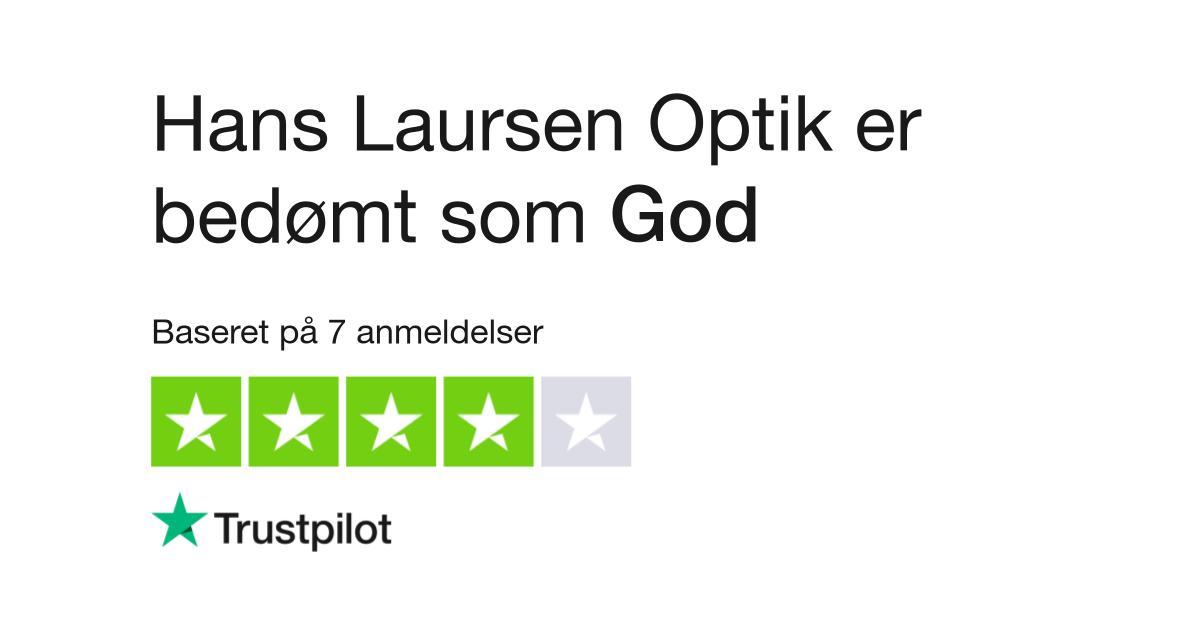 cfca6d403fe7 Anmeldelser af Hans Laursen Optik