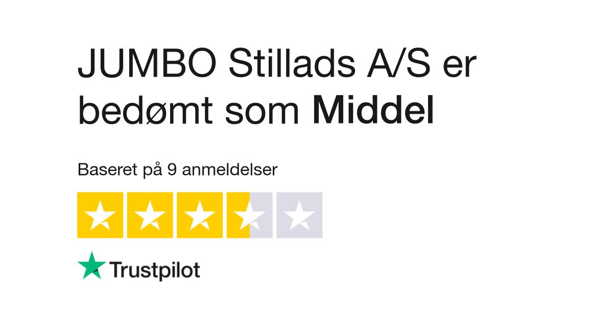 Sidste nye Anmeldelser af JUMBO Stillads A/S | Læs kundernes anmeldelser af XI-14