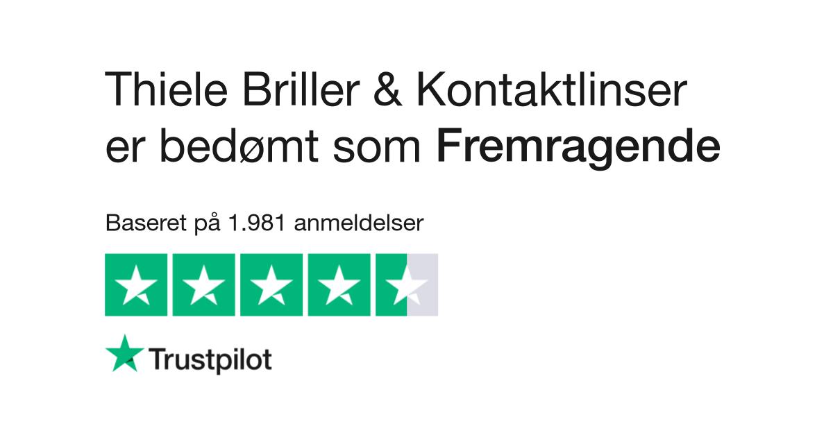 Anmeldelser Af Thiele Briller Læs Kundernes Anmeldelser Af Www
