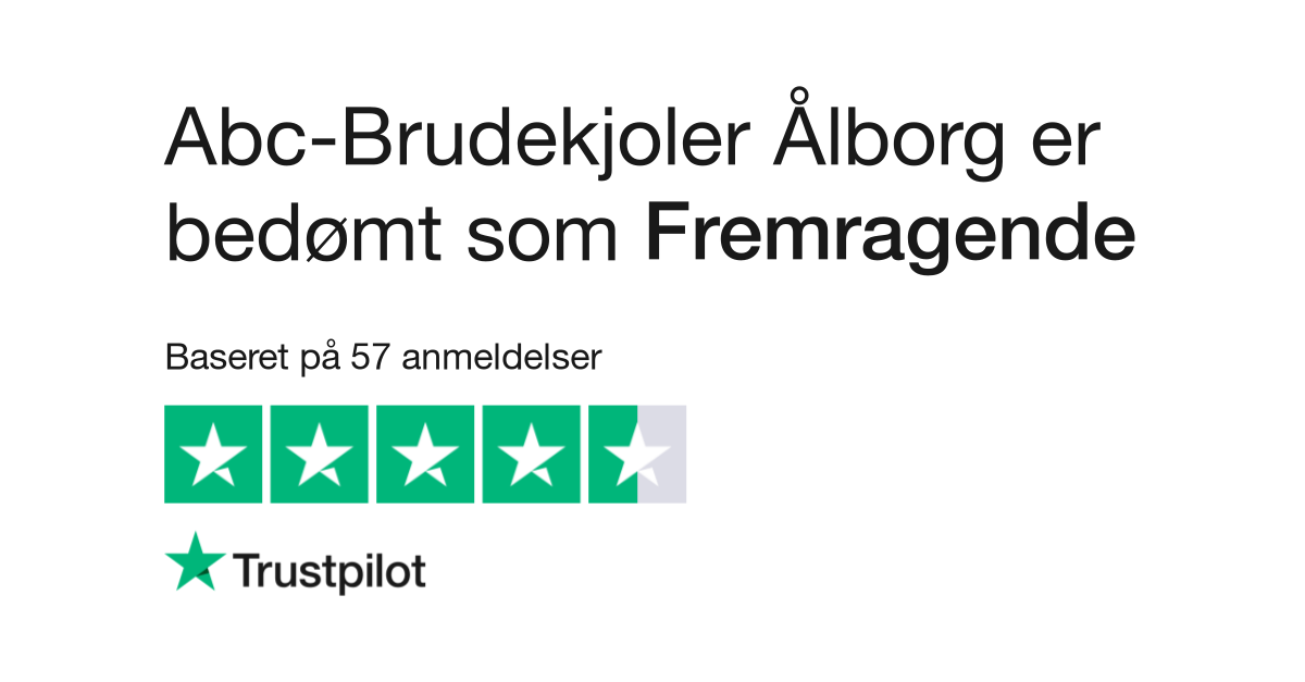 Flot Anmeldelser af Abc-Brudekjoler Ålborg   Læs kundernes anmeldelser DJ-44