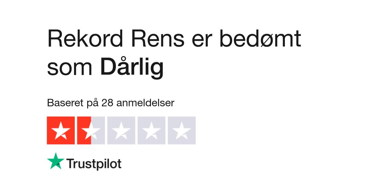 Anmeldelser af Rekord Rens | Læs kundernes anmeldelser af