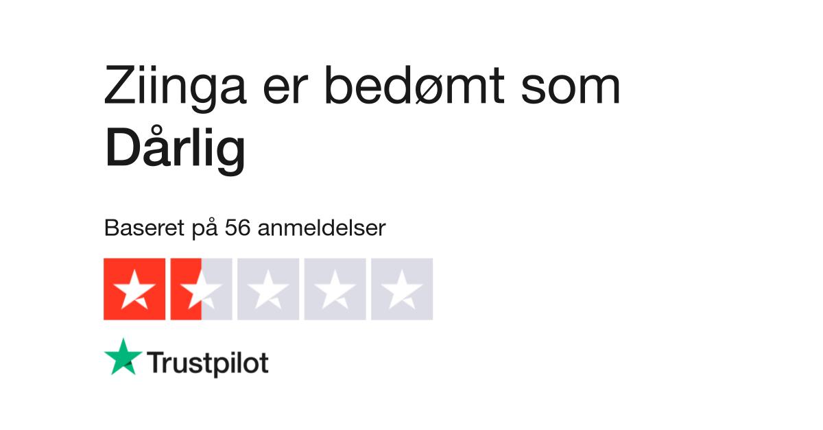 0d307f06 Anmeldelser af Ziinga | Læs kundernes anmeldelser af www.ziinga.dk | 2 af 3