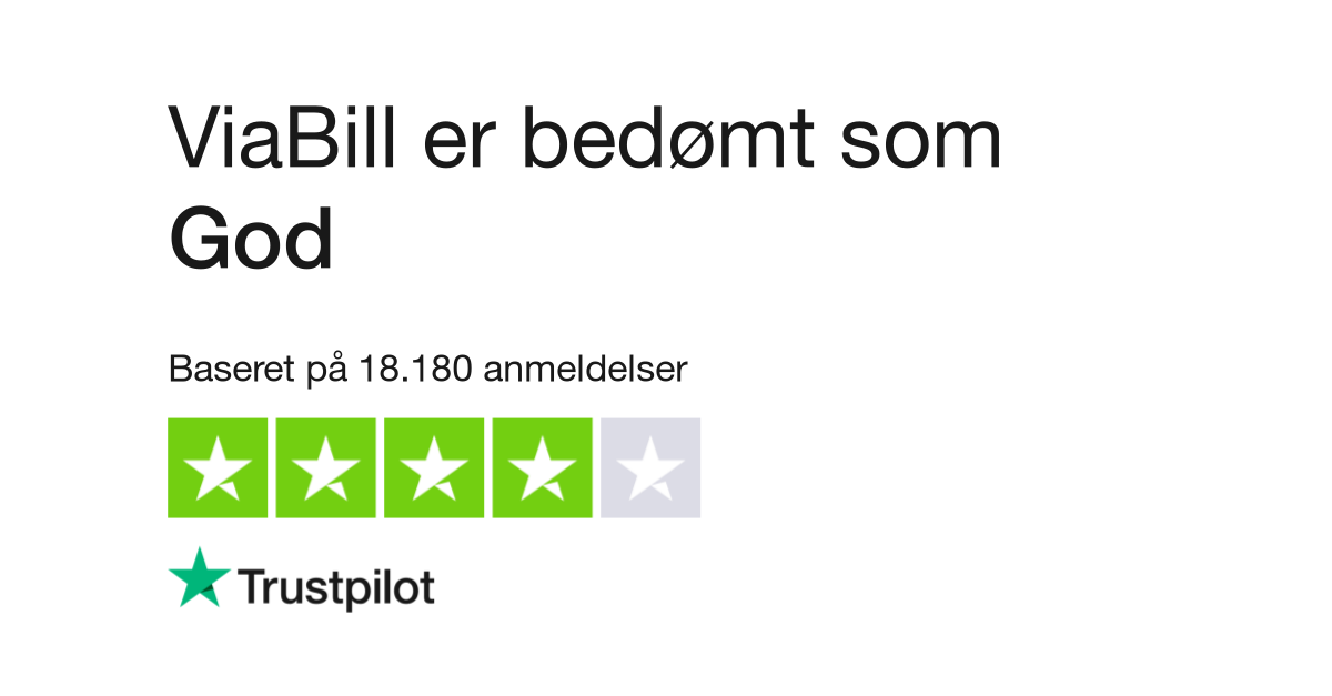 9d95edcb13b Anmeldelser af ViaBill   Læs kundernes anmeldelser af viabill.dk