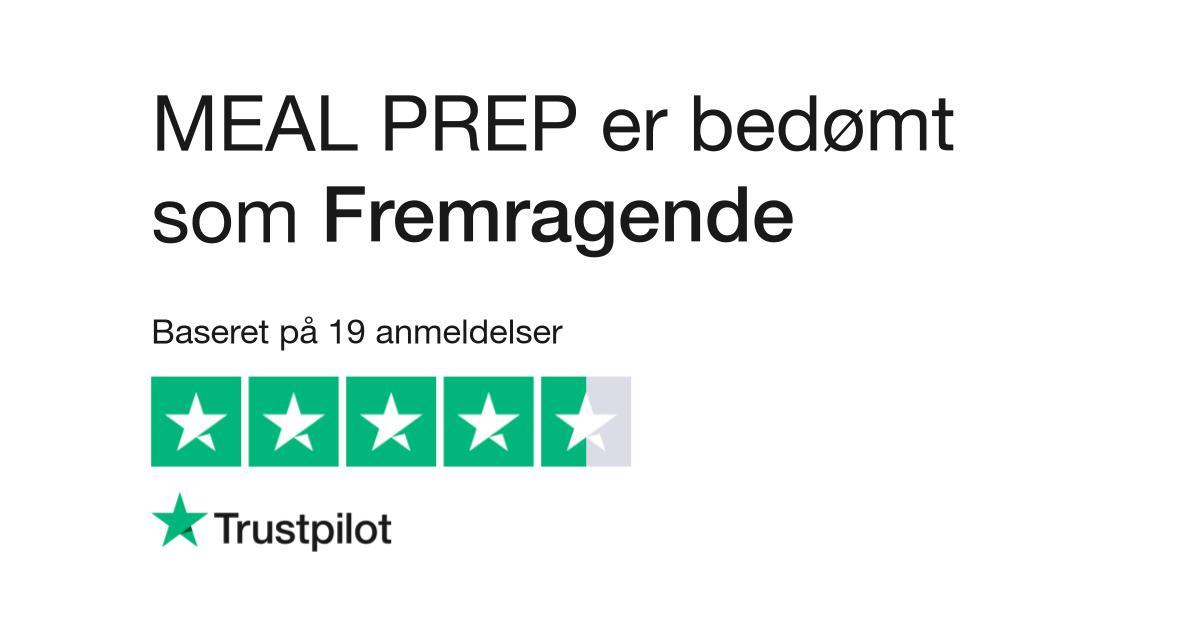 Seneste Anmeldelser af MEAL PREP | Læs kundernes anmeldelser af mealprep.dk ED18