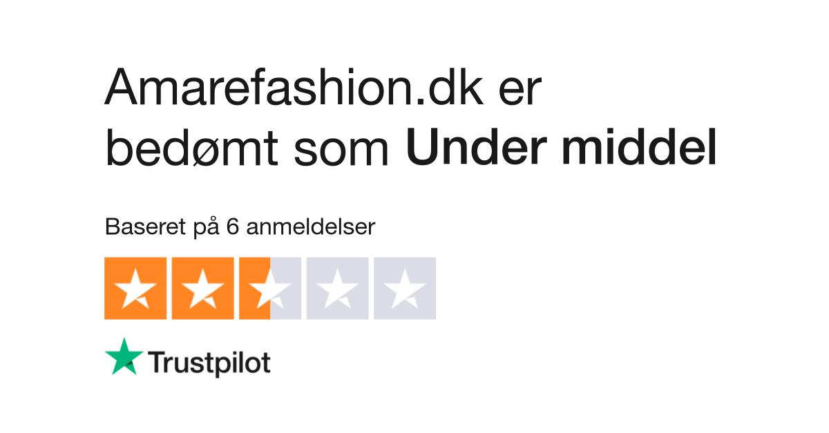 ea2ef830da8 Anmeldelser af Amarefashion.dk | Læs kundernes anmeldelser af  amarefashion.dk