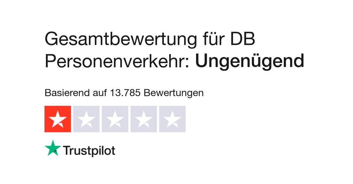 """DB Personenverkehr wird auf Trustpilot mit 1,2 von 5 als """"Ungenügend"""" bewertet"""