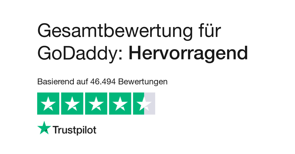 Bewertungen von GoDaddy | Kundenbewertungen von www.godaddy.com lesen