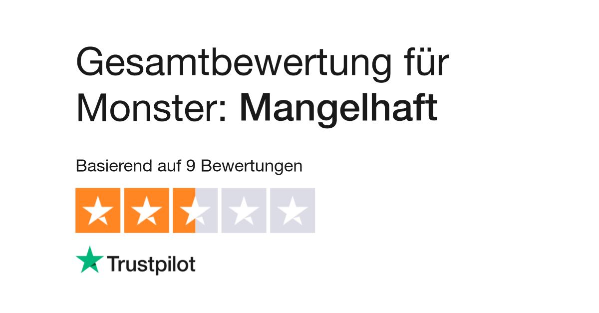 Bewertungen von Monster | Kundenbewertungen von www.monster.de lesen