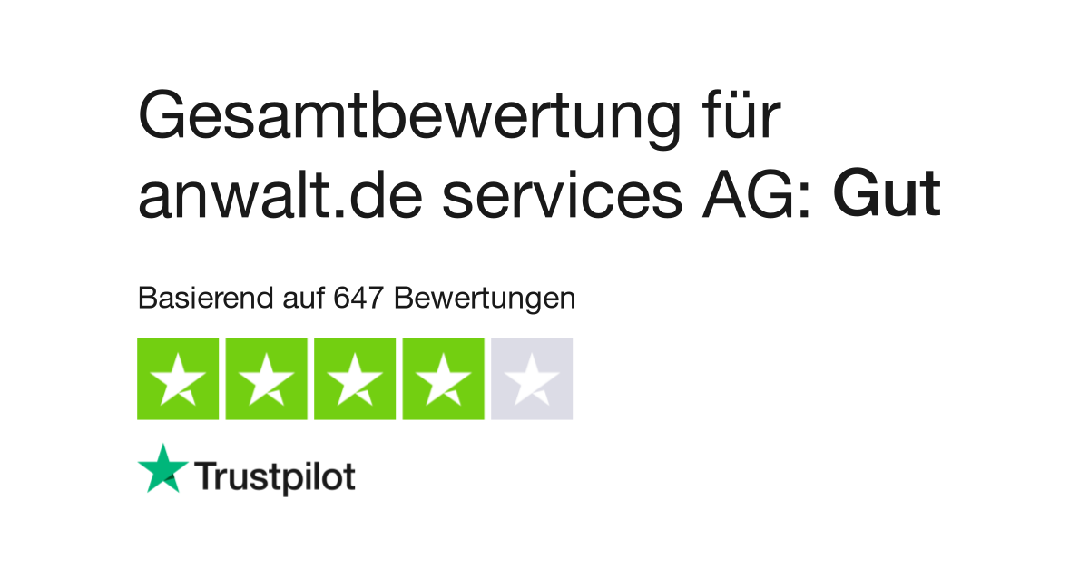 Bewertungen Von Anwaltde Services Ag Kundenbewertungen Von Anwalt