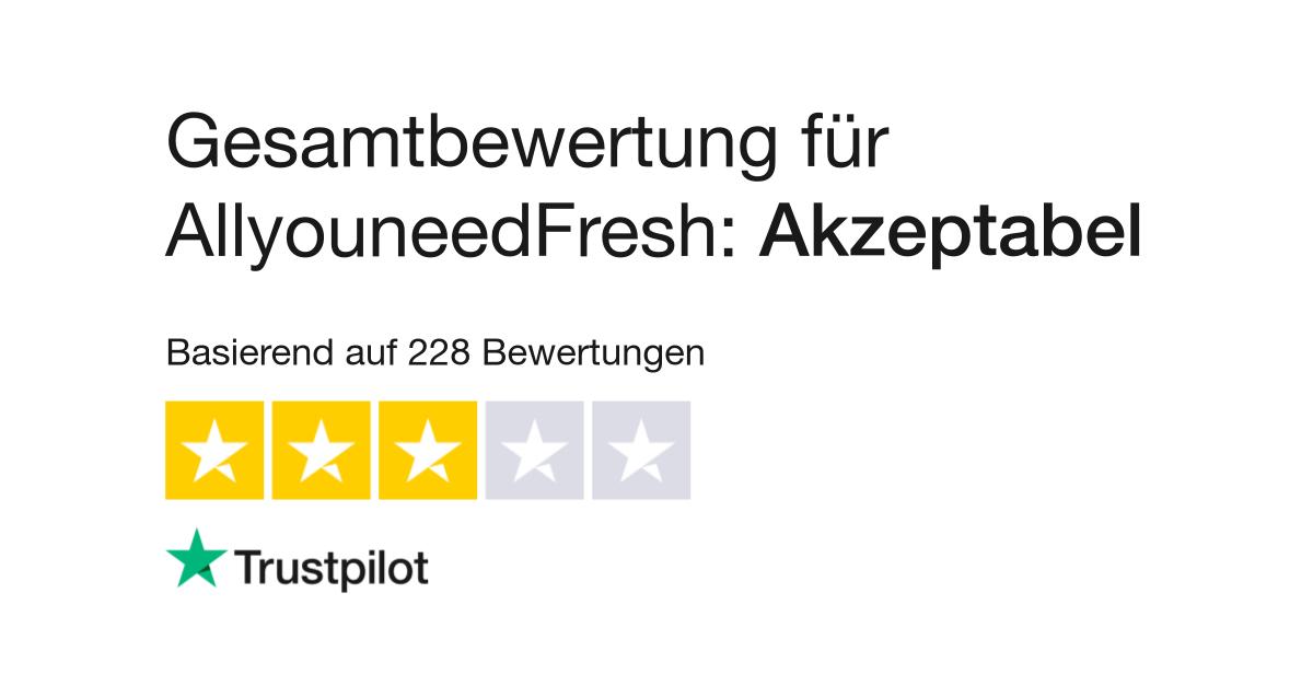 Bewertungen von AllyouneedFresh | Kundenbewertungen von