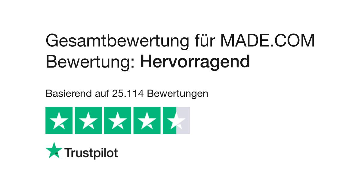 53ba74da2f Bewertungen von MADE.COM Bewertung | Kundenbewertungen von made.com/de lesen