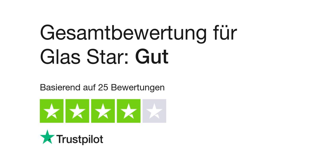 """Glas Star wird auf Trustpilot mit 2,7 von 5 als """"Mangelhaft"""" bewertet"""