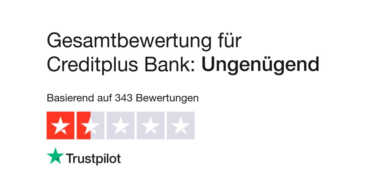 Bewertungen zu Creditplus Bank Lesen Sie Kundenbewertungen zu