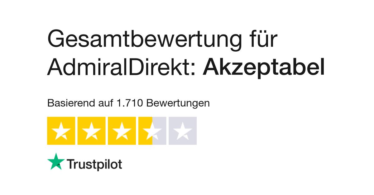 Bewertungen Von Admiraldirekt De Gmbh Kundenbewertungen Von