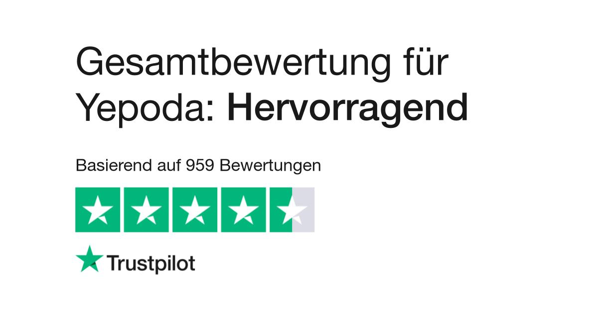 Bewertungen zu Yepoda   Lesen Sie Kundenbewertungen zu
