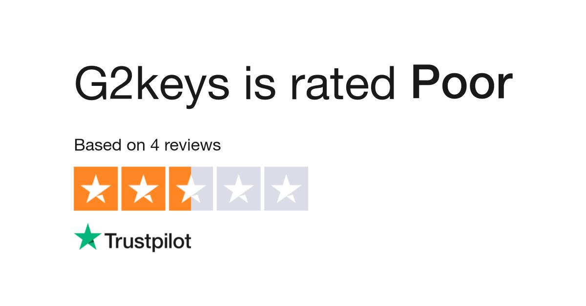 G2keys Reviews | Read Customer Service Reviews of g2keys com