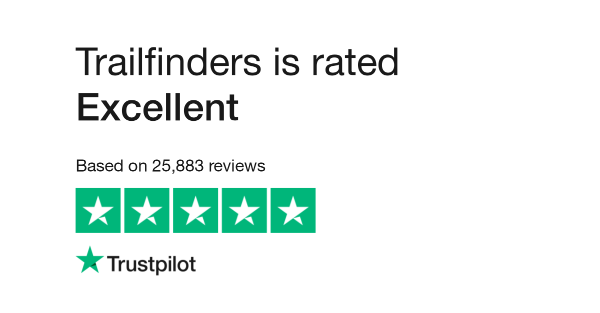 "Trailfinders is rated ""Excellent"" with 9.5 / 10 on Trustpilot"
