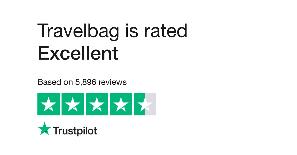 "Travelbag is rated ""Great"" with 7.6 / 10 on Trustpilot"