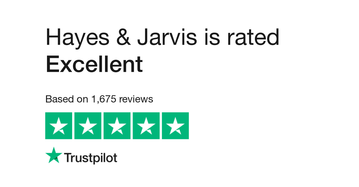 "Hayes & Jarvis is rated ""Excellent"" with 9.7 / 10 on Trustpilot"