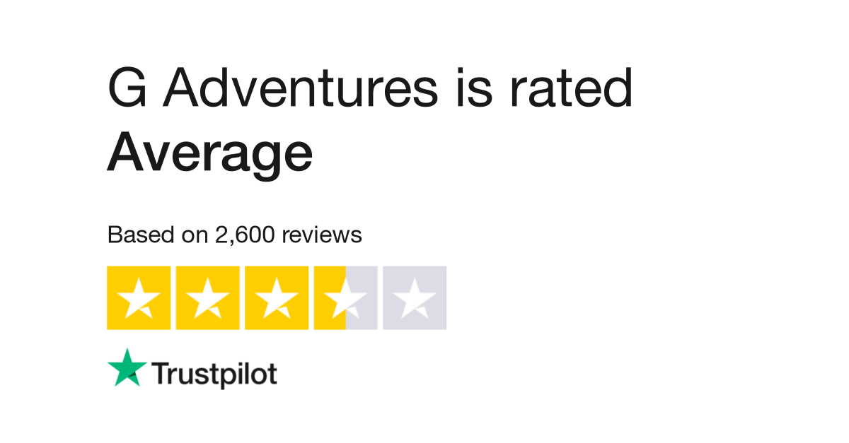 "G Adventures is rated ""Great"" with 8.6 / 10 on Trustpilot"