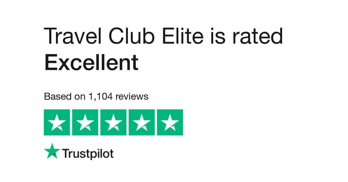"""Travel Club Elite is rated """"Excellent"""" with 9.7 / 10 on Trustpilot"""