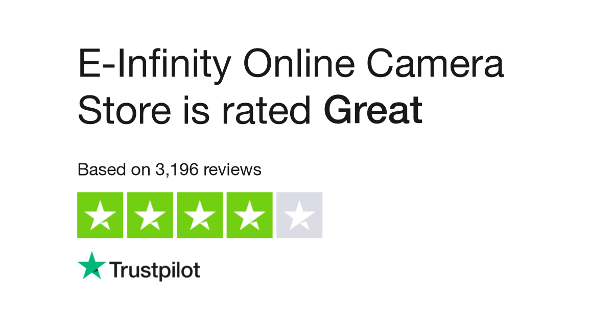 E-Infinity Online Camera Store Reviews | Read Customer