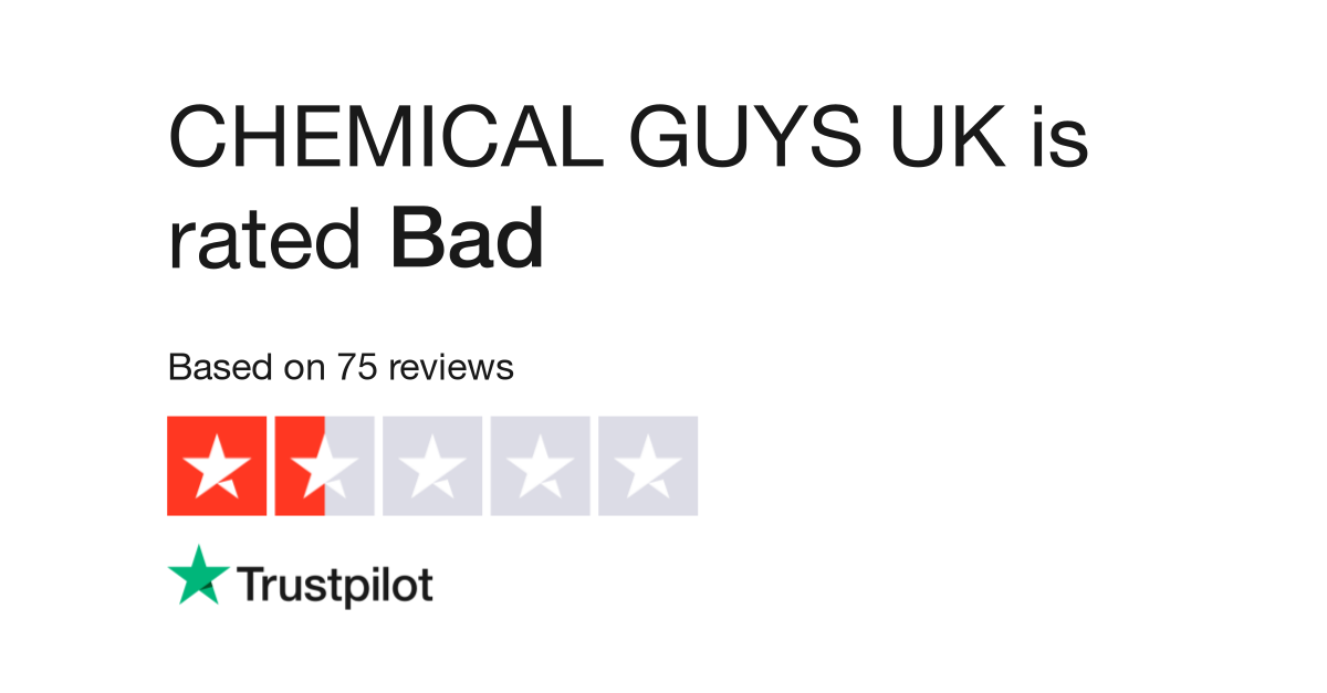 CHEMICAL GUYS UK Reviews | Read Customer Service Reviews of
