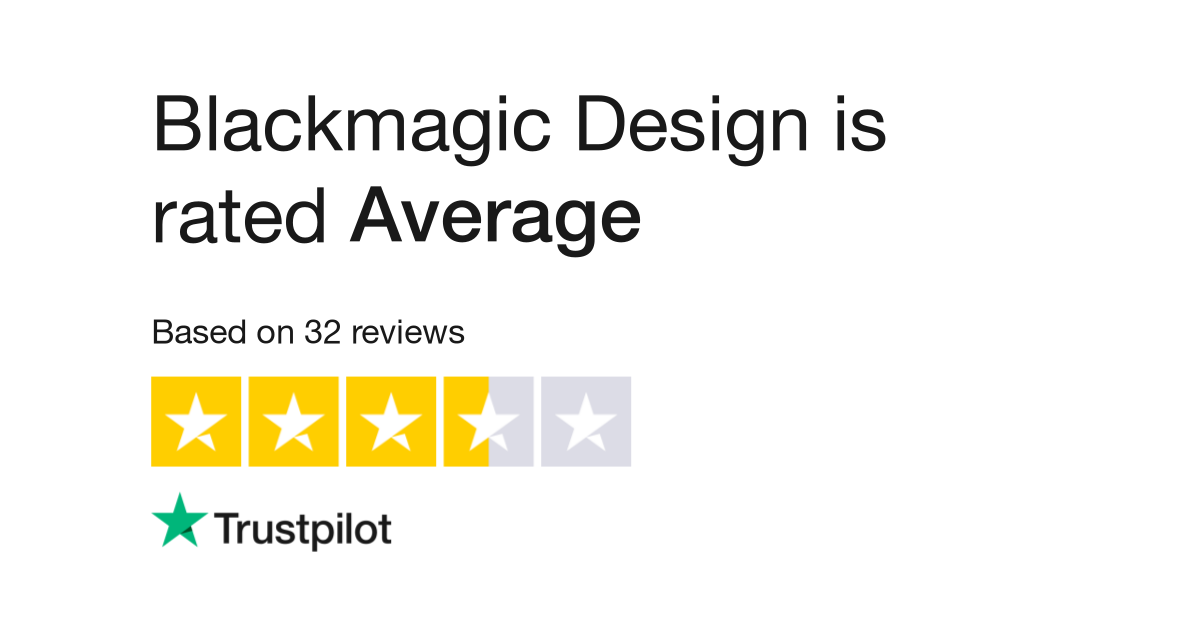 Blackmagic Design Reviews Read Customer Service Reviews Of Blackmagicdesign Com