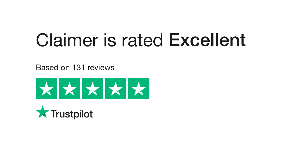 """Claimer is rated """"Excellent"""" with 4.9 / 5 on Trustpilot"""