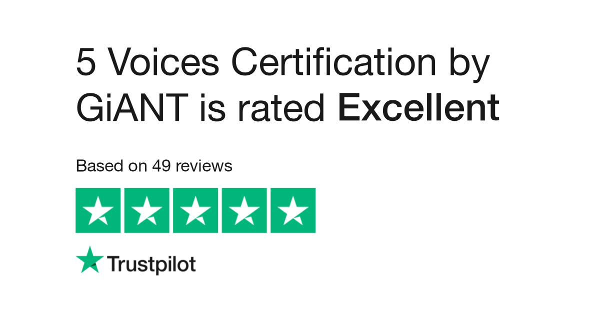 5 Voices Certification by GiANT Reviews | Read Customer Service
