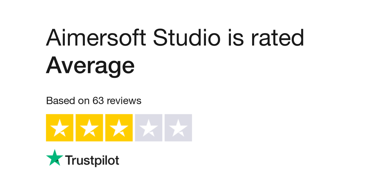 Aimersoft Studio Reviews | Read Customer Service Reviews of