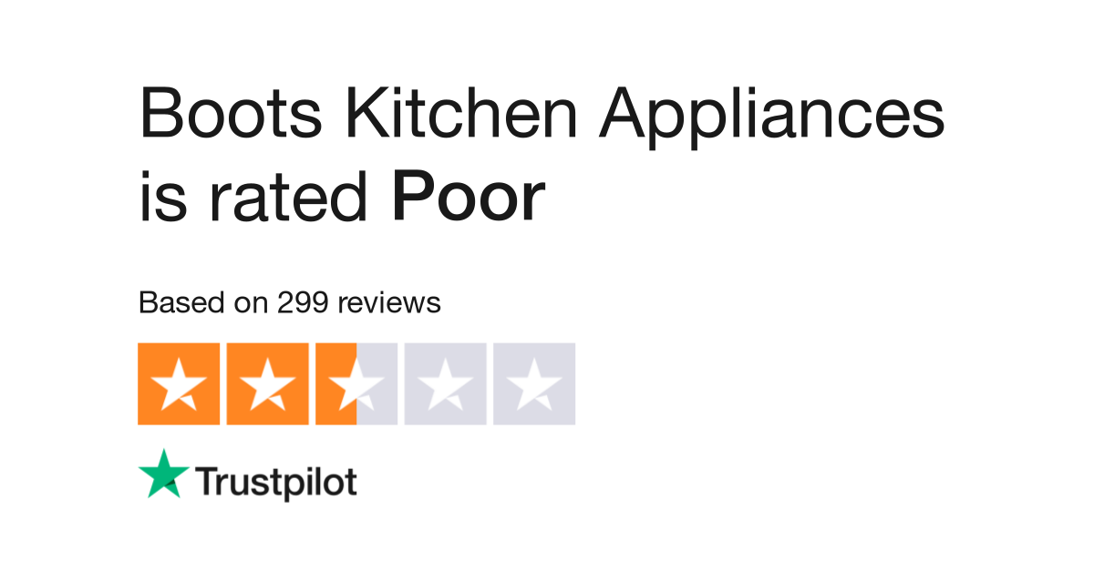 Boots Kitchen Appliances Reviews | Read Customer Service Reviews of ...
