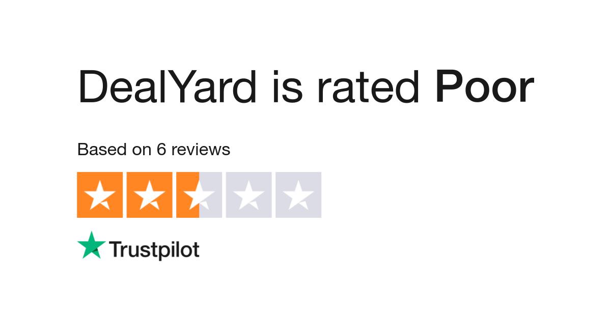 DealYard Reviews | Read Customer Service Reviews of www.dealyard.com