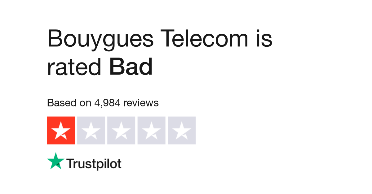 Bouygues Telecom Reviews Read Customer Service Reviews Of Www Bouyguestelecom Fr