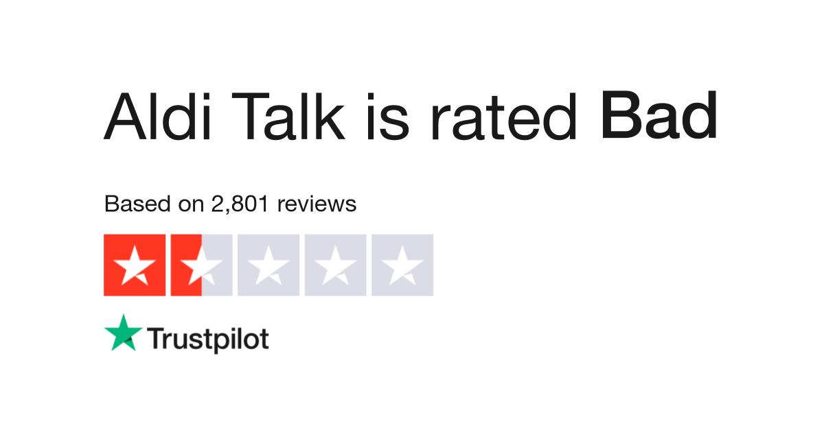 Aldi Talk Reviews   Read Customer Service Reviews of www
