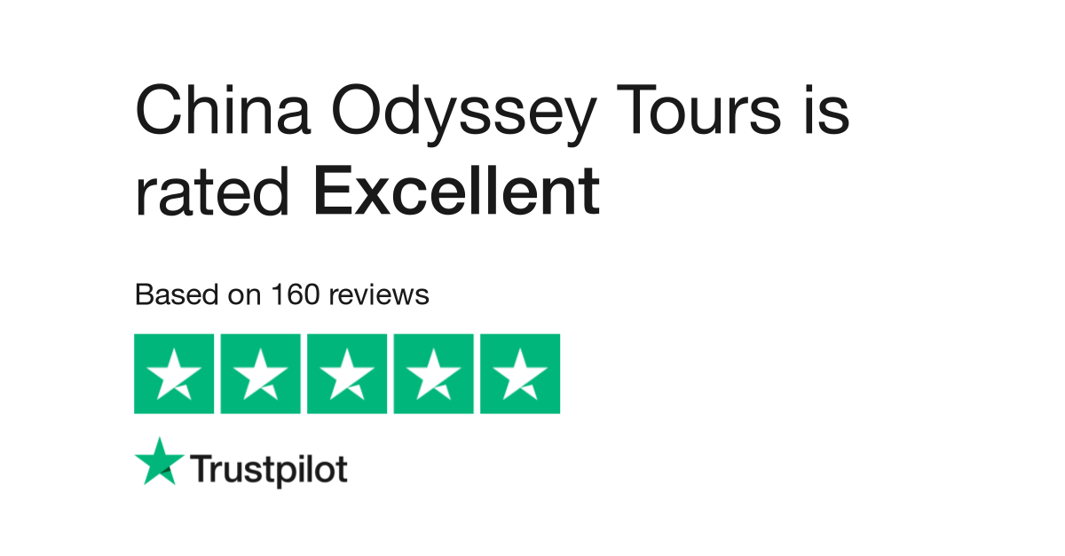 "China Odyssey Tours is rated ""Excellent"" with 9.5 / 10 on Trustpilot"