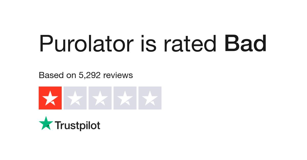Purolator Reviews   Read Customer Service Reviews of www