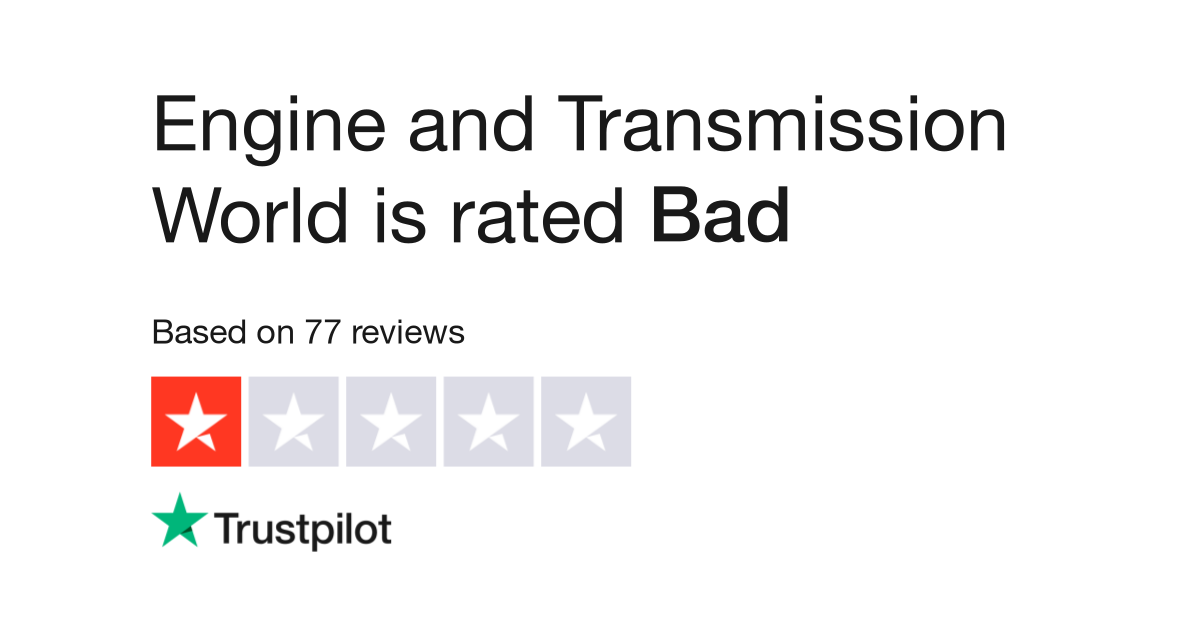 Engine And Transmission World >> Engine And Transmission World Reviews Read Customer Service