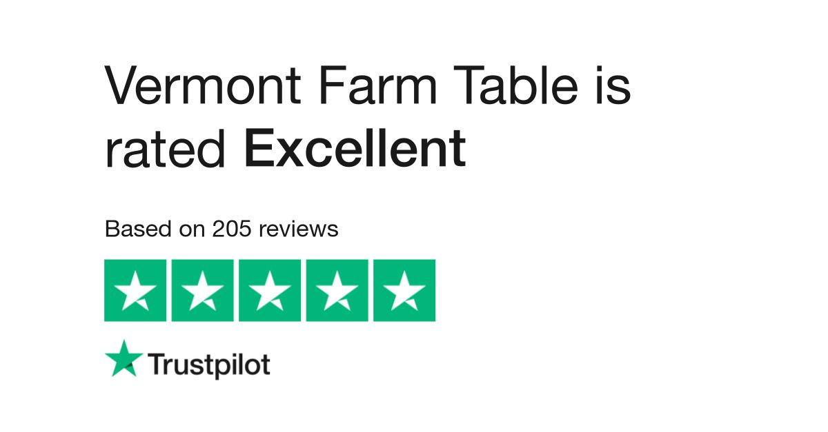 Vermont Farm Table Reviews Read Customer Service Reviews Of - Vermont farm table reviews