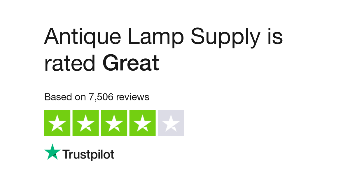 antique lamp supply reviews read customer service reviews of antiquelampsupplycom - Antique Lamp Supply