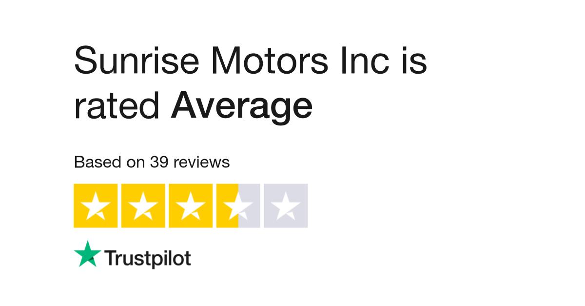 Sunrise Motors Inc Reviews   Read Customer Service Reviews of