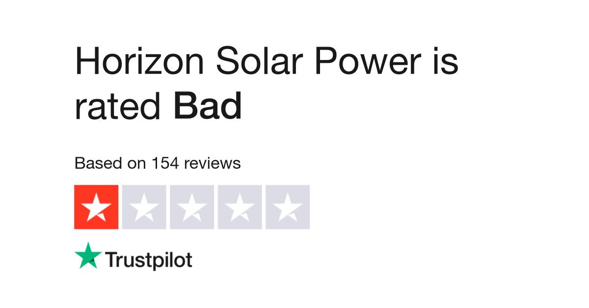 Horizon Solar Power Reviews | Read Customer Service Reviews