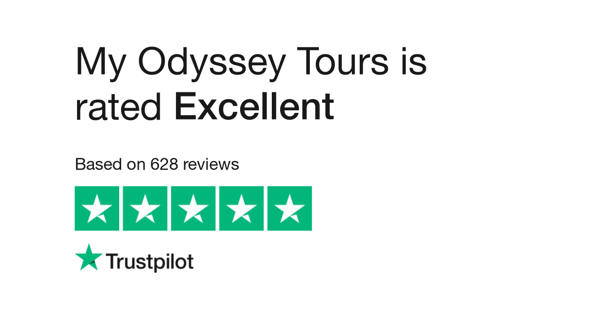 "My Odyssey Tours is rated ""Excellent"" with 9.8 / 10 on Trustpilot"