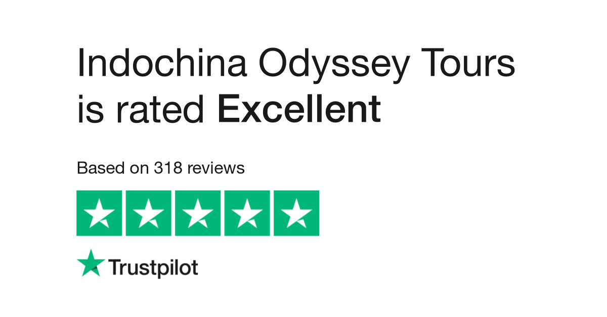 """Indochina Odyssey Tours is rated """"Excellent"""" with 9.8 / 10 on Trustpilot"""