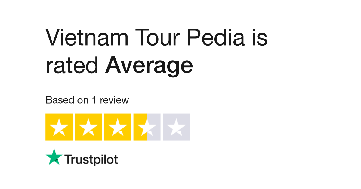 "Vietnam Tour Pedia is rated ""Great"" with 7.4 / 10 on Trustpilot"