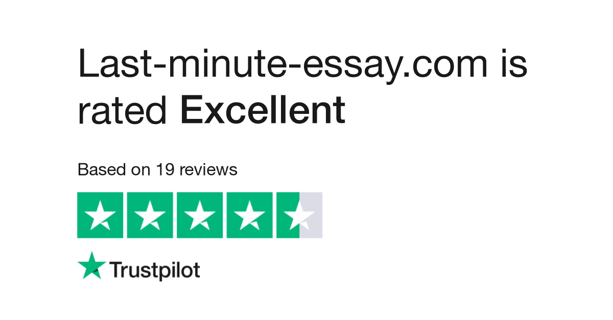 last minute essay reviews