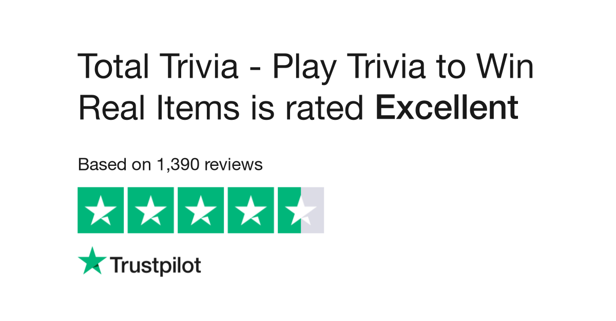 Total Trivia - Play Trivia to Win Real Items Reviews   Read