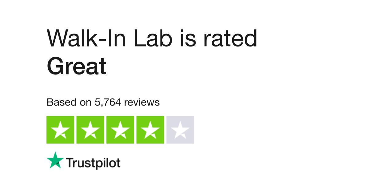 Walk-In Lab Reviews | Read Customer Service Reviews of walkinlab com