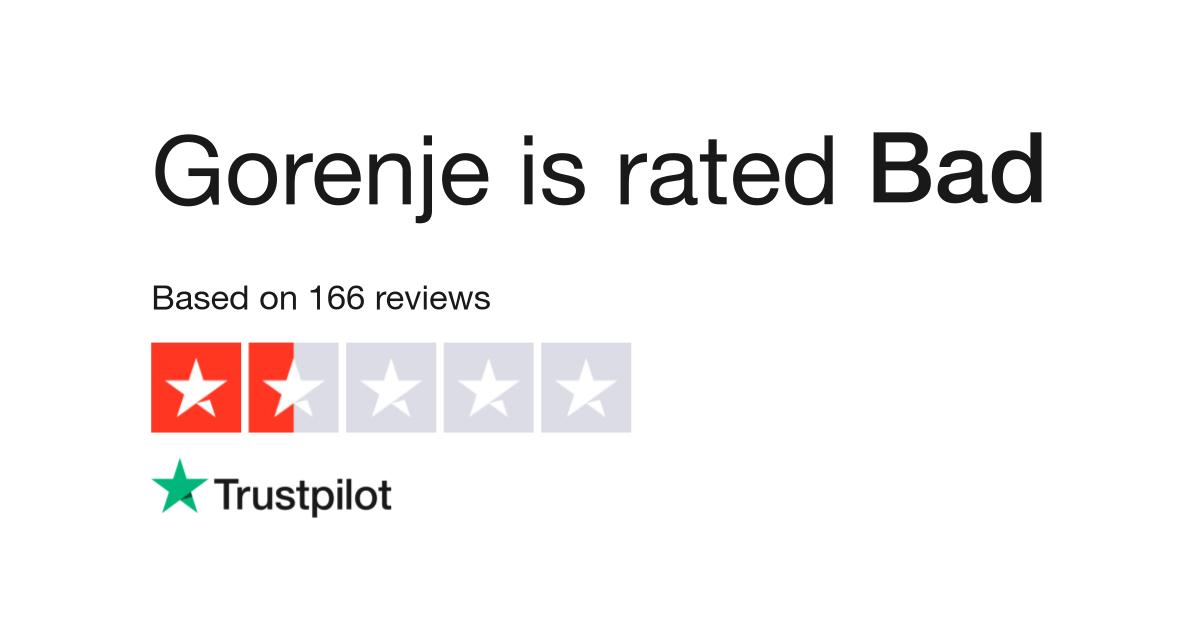 Gorenje Reviews Read Customer Service Reviews Of Www Gorenje Co Uk