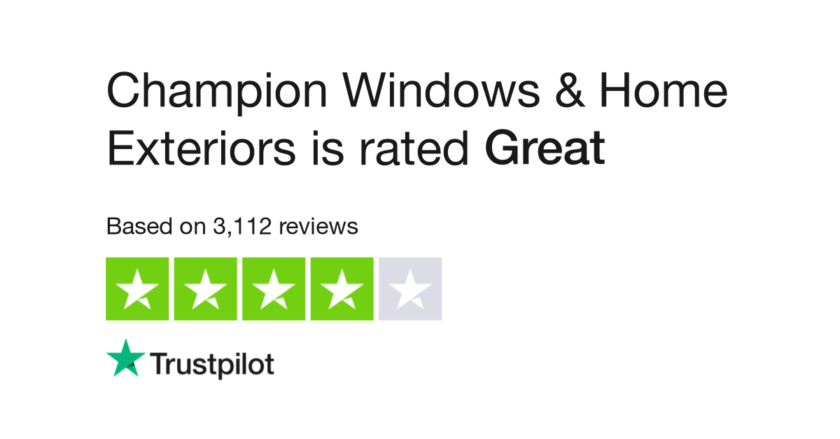 Champion Windows & Home Exteriors Reviews
